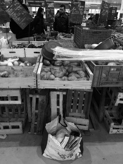 Market Day Retail  For Sale Container Basket No People