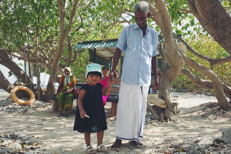 Cute baby Cutebaby Pigeonisland Sri Lanka Bythesea Smiling Grandfather & Granddaughter Family❤ Happiness Snap Moment