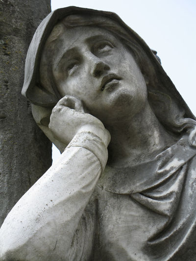 Art And Craft Cemetery Detail Eyes Lifte Eyes Lifted Human Representation Ponder Religion Sculpture Statue