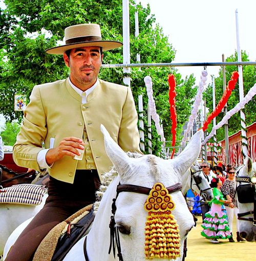 La Feria de Abril Horse Horseback Riding Seville SPAIN Seville,spain Feria De Abril Feria Festivities Tradition Traditional Festival Traditional Clothing Adult Men One Person Clothing Looking At Camera Real People Portrait Lifestyles Hat Males  Summer In The City EyeEmNewHere