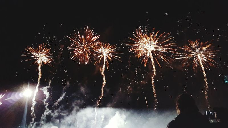 Fireworks 14juillet2016 Nationalday Britany Colorful Orange Color Hanging Out Taking Photos