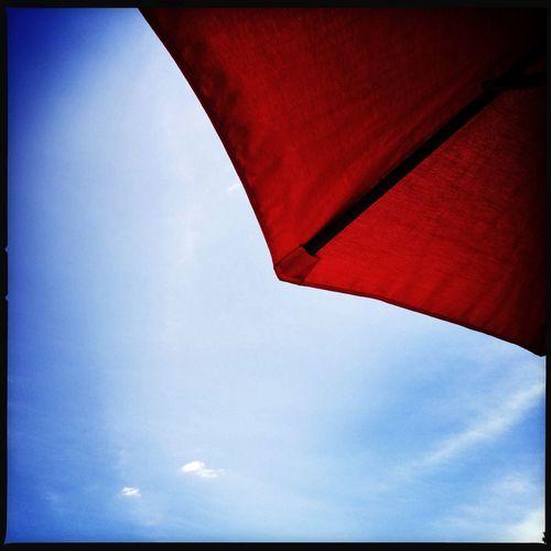 The Good Life Hipstamatic Red Umbrella Sky