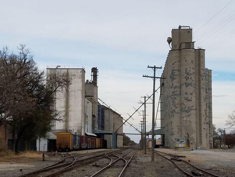 Rural Scene Farmland USA Transportation Railroad Track Heartland Grain Mills Railway Landscape Agriculture Kansas Kansasphotographer Abilene