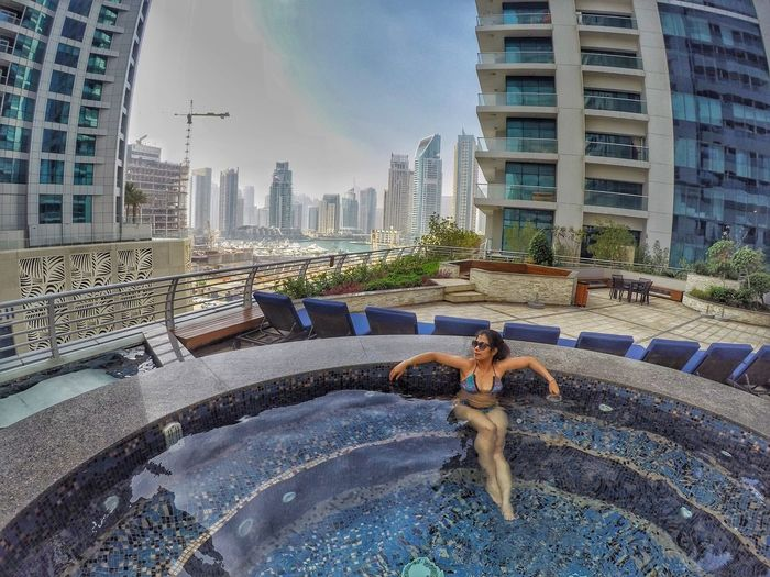 Staycation.😎☀️ Weekend Staycation Swim Check This Out Hello World That's Me Weekend Activities Dubai Princess Tower Relaxing Enjoying Life Gopro Goprohero4