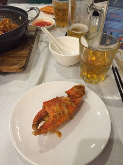 Chilli crab Food And Drink Plate Crab