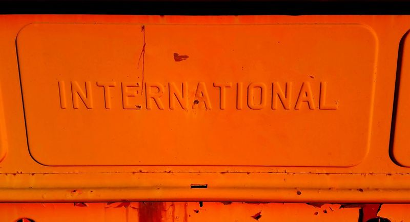 Orange Color Full Frame Transportation No People Outdoors Backgrounds Close-up Day Motor Vehicle EyeEmNewHere HelloEyeEm Hello World Collector's Car 1964 ınternational Pick-up Truck Transportation Land Vehicle Mode Of Transport