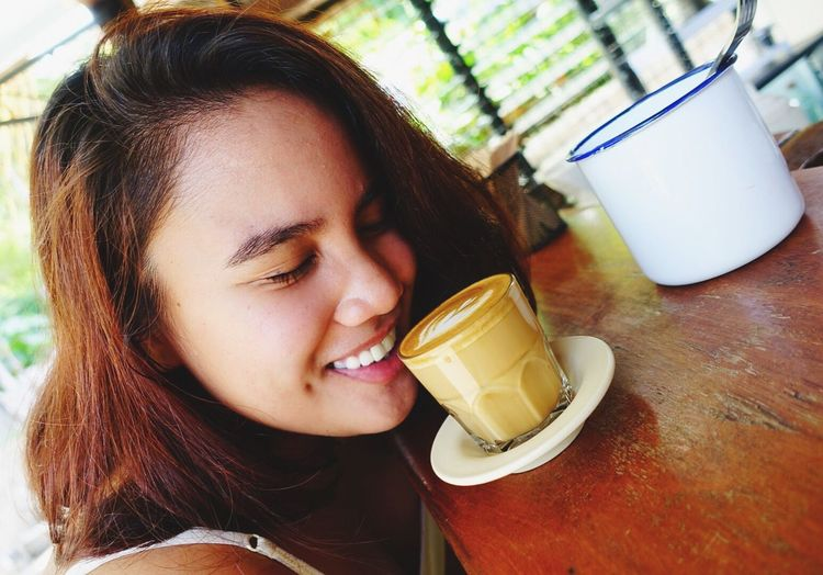 Enjoy The New Normal Drink Only Women One Young Woman Only Young Adult One Woman Only Young Women One Person Real People Headshot Refreshment Drinking Drinking Glass Lifestyles Food And Drink Smiling Women Adults Only Drinking Straw Beautiful Woman Adult Coffee Launion Philippines