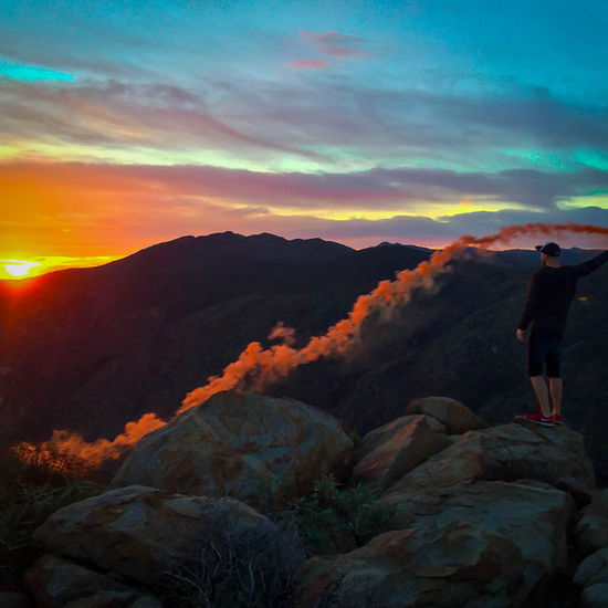 Morning smoke with my homie @scirephoto. Epic Sunrise Smokebombs CaliLife Sandiegophotos Zen Reflect Dangerisgood Smoke Julian Pacificcresttrail First Eyeem Photo