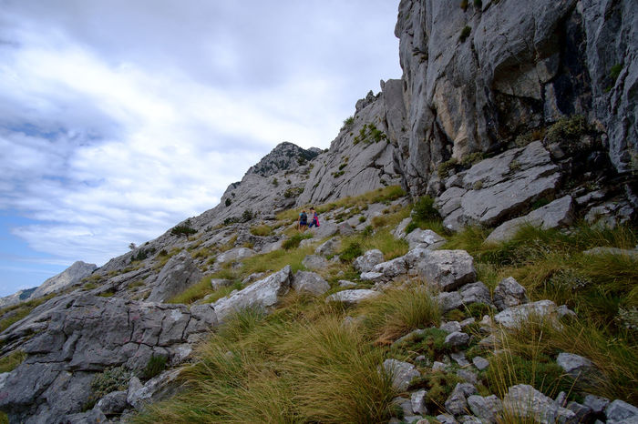 Croatia Adventure Beauty In Nature Biokovo Brela  Cliff Day Grass Hiking Landscape Low Angle View Mountain Nature No People Outdoors Rock - Object Scenics Sky Slope Steep Tranquility