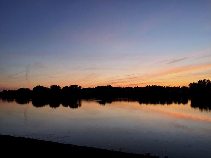 Lake Clouds Sun Orange Sky Sunset Like Followme Sky Follow4follow Like4like Likeforlike Follow Evning Sky