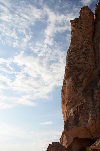 Uchisar castle silhouette. uchisar. cappadocia. turkey
