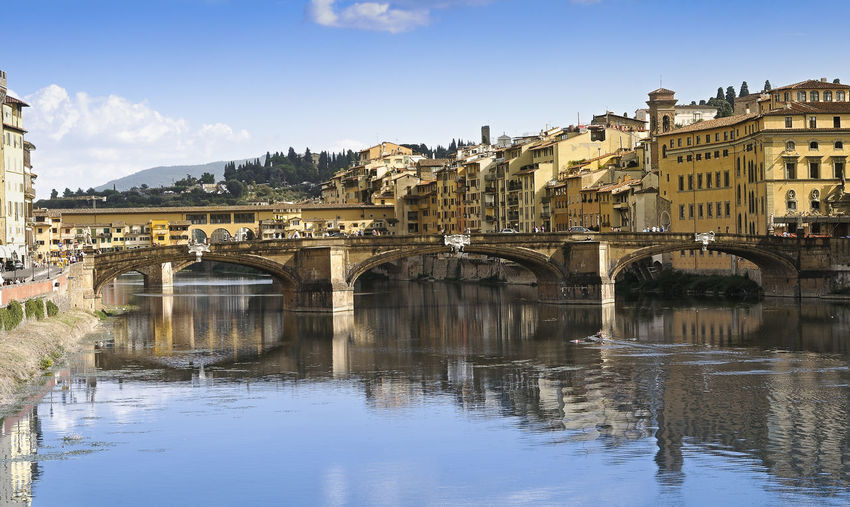 Bridge Over Arno River In Florence