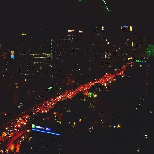 Silhouette Jakarta Working Enjoying The View