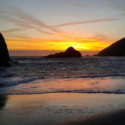 Ocean Bigsur Pfeiffer Beach Nature Landscape Sunset Island California Carmel