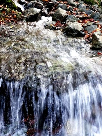 Motion Water Flowing Outdoors Nature Day Beauty In Nature Winter Waterfall Long Exposure