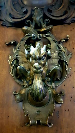 Dragon and moths Dragon Doorway Wood - Material Bronze Animal Themes Detail Walking Around City Art Fantasy Animal Culture Full Frame Metal Door Close-up Decorative Art Ornate