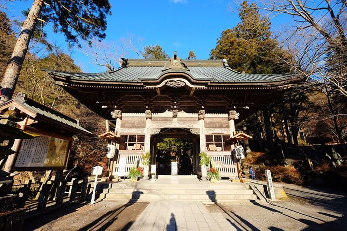 Architecture Building Exterior Built Structure Outdoors Religion Tree Day Sky Pavilion No People Japan