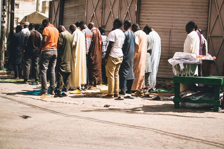 Group Of People Rear View Real People Architecture Day Men People Occupation Standing Working Full Length City Sunlight Built Structure Adult Street Outdoors Casual Clothing Building Exterior EyeEm Best Shots Islam EyeEmNewHere EyeEm Gallery