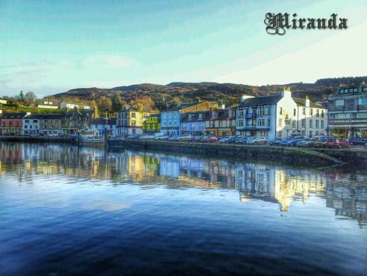 Tarbert Scotland Reflections Fishing village