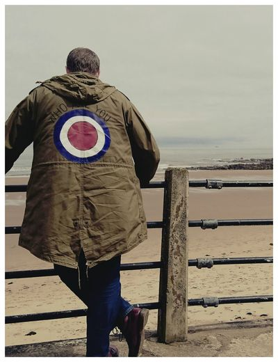 Who are you ? The New Normal Self Portrait LmlPhotography Mod RAF Roundel The Who Dr Martens Men One Man Only Rear View One Person Only Men Adult People Nature Day Adults Only Outdoors Beach Quadrophenia Jimmy