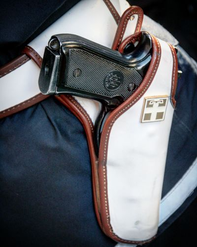 Italian police should be more careful about how close someone can get to their weapon Leather Close-up Gun Police Firearm Polizia Police Uniform Eyeem Market EyeEmBestPics Trending Photos Italy Cultures Saluzzo  Popular EyeEm Gallery Belt  Guns