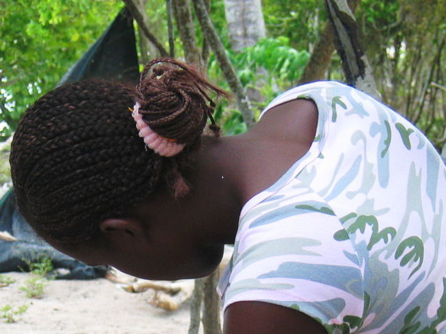 2007 Dominican Republic Dominicus Beach Woman Day Hairstyle Lifestyles One Person Outdoors Real People Rear View