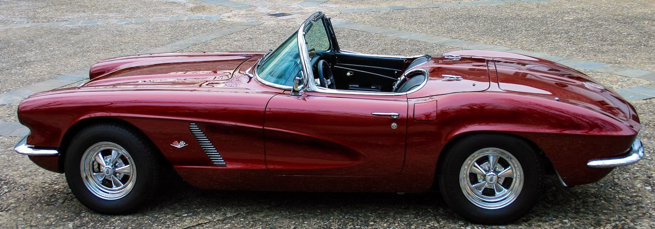 Red Retro Styled Old-fashioned Transportation Outdoors No People Day 1962 Corvette Resto Mod