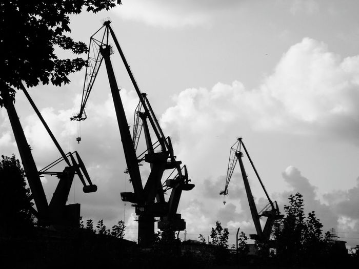 Business Finance And Industry Industry Outdoors Sky No People Day Poland 💗 Blackandwhite Photography Blackandwhite Street Photography Streetphoto_bw Black & White City Poland Streetphotography Built Structure Architecture Gdansk (Danzig) Gdansk_official Gdańskeye Gdańsk 👌🏼