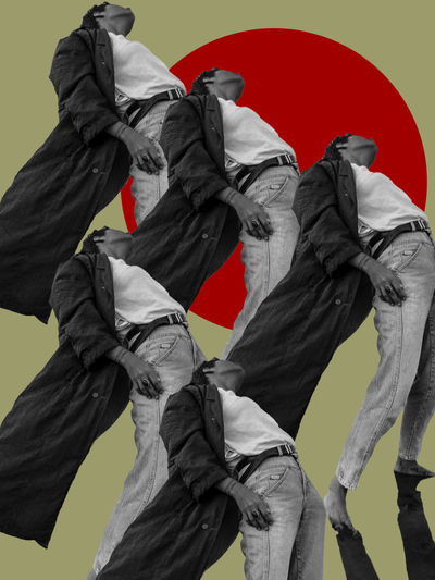 Chemical Sisters #1 The project born due to mutual chemical reactions between us three, me and two of my closest friends. Japan Japanese Culture Japanese Style The Week on EyeEm TheWeekOnEyeEM Art And Craft Digital Art Digital Collage Flag Human Representation Isolation Patriotism Pride Red Repetition Repetitive Repetitive Pattern Representation Statue Wind The Creative - 2018 EyeEm Awards