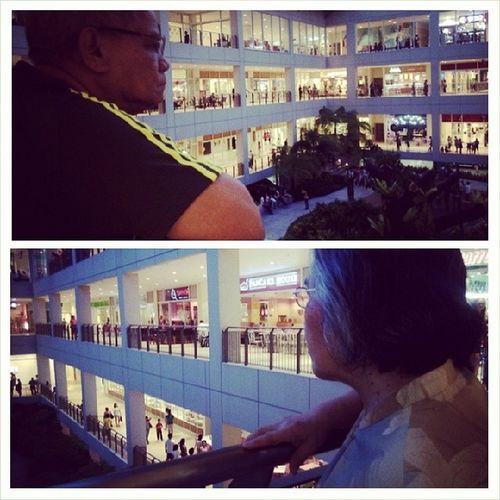 Nanay and Papang in Centrio. Panalagsa rani eh. Lightsgalore