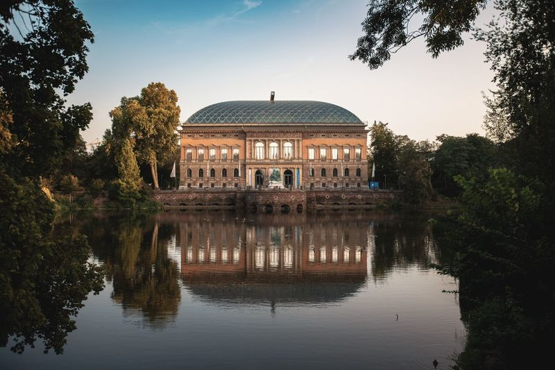 Kunstsammlung Düsseldorf Kunstsammlung NRW Architecture Building History Reflection Tourism Travel Water Waterfront