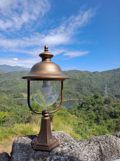 View of lamp against sky