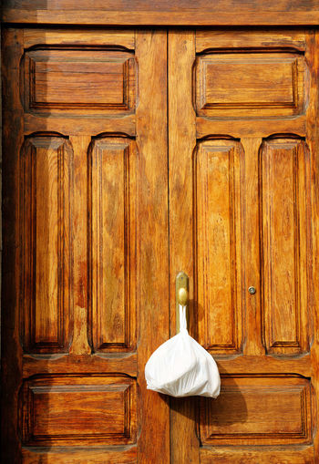 Detail Shot Of Closed Door