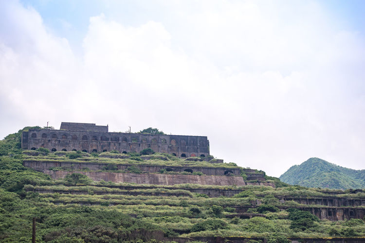 Low angle view of castle against sky