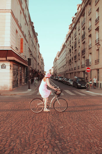 #bicycle #colours #Paris #france  #photography #Pink  #streetphotography #summer #Women