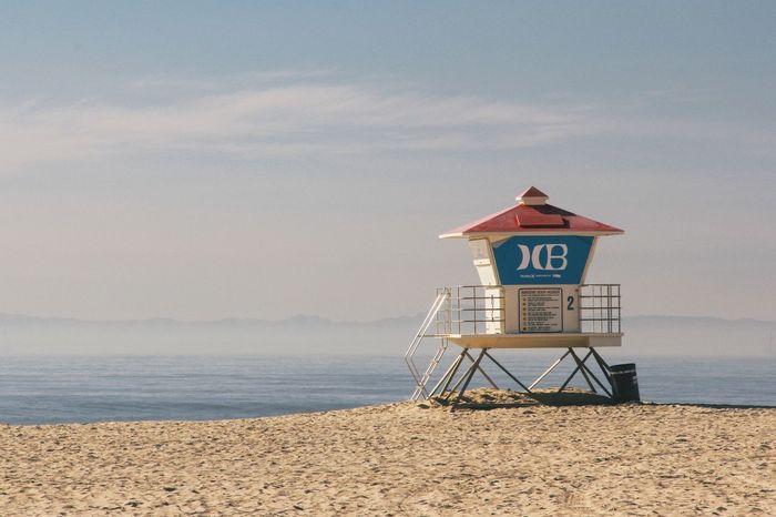Beach California Hermosa Hermosa Beach Lifeguard  Lifeguard Hut Sand Scenics Sea Summer Us USA Water First Eyeem Photo
