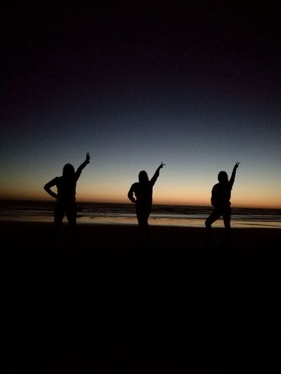 Friendship My Year My View Outdoors People Real People Silhouette Sunset Togetherness Tranquility Vacations