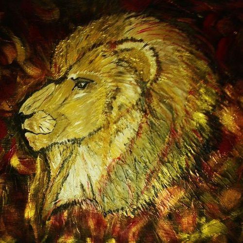 TableauLion Mespeinturesacryliques Art Roi fandeLioncentreAfriquecadeaumonhommelovesocute
