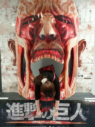 長崎駅 稲佐山  上手に食べられることができませんでした(๑¯ ³¯๑) 進撃の巨人