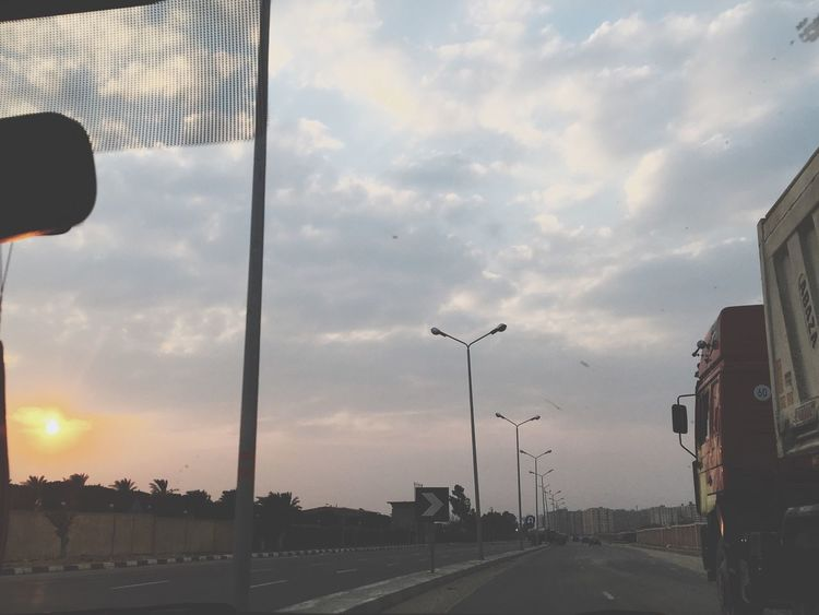 Check This Out Egypt Truck Road Maadi Cairo Sunset Sun Sky Scenery Car Africa