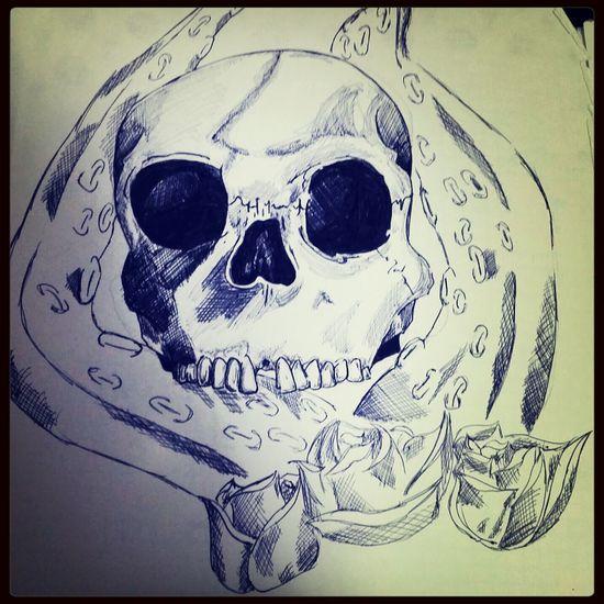 Me Draw Purple Teschio