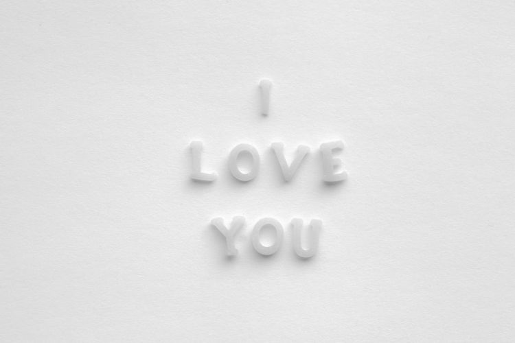 Love Text I Love You Intimacy Letter Loveletters Message Note Pasta True White White Background Words