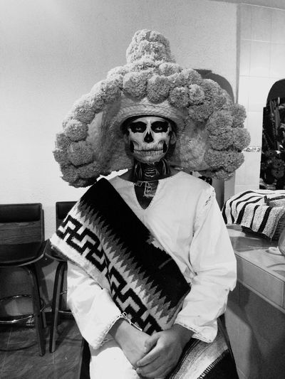 Mexicanstyle MenPortrait Blackandwhite Black Discover Your City Diademuertos MexicanTradition