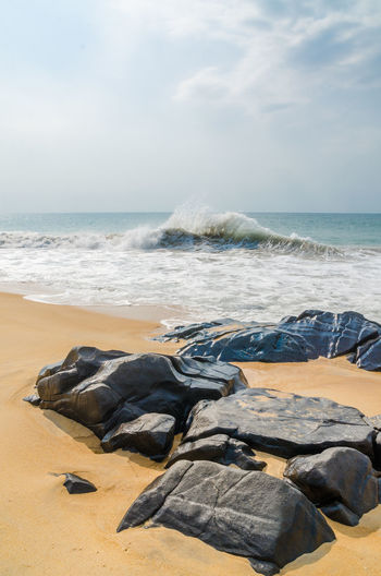 Wave Beach Rock - Object Rocks Robertsport West Africa Liberian African Africa Liberia Nature Landscape Coast Sea Ocean