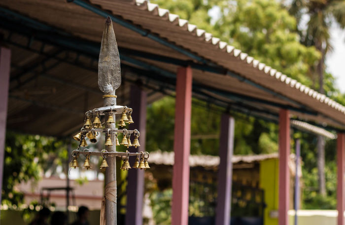 Holy bells of Hindus .. Architecture Bell Building Exterior Built Structure Close-up Collection Cultures Day Hinduism Holy India Karur Low Angle View Nature No People Outdoors Religion Roof Spear Tadaa Community Taking Photos Tamilnadu Temple Travel Tree
