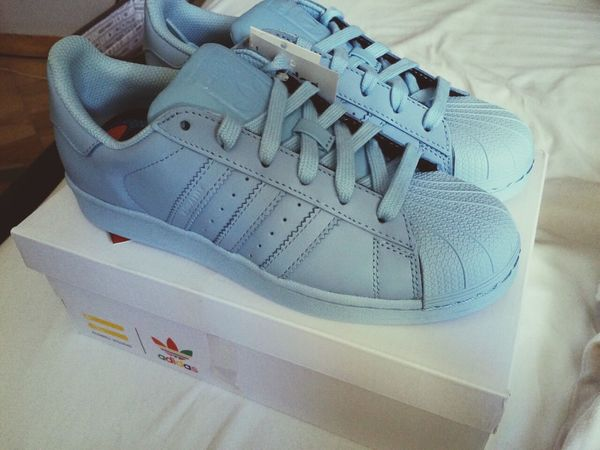 Happy Love ♥ New Sky Blue Adidasoriginals Supercolor Adidas in love 😍💕💕
