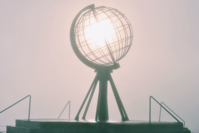 Alternative Energy Circle Design Environmental Conservation Eyem Misty Day Fog Foggy Foggy Night Low Angle View Metal Midnight Sun Midnightsun Mist Misty Night No People Nordkap  Nordkapp North Cape Northern Norway Norway Pattern Technology The Adventures Of Misty Traveling