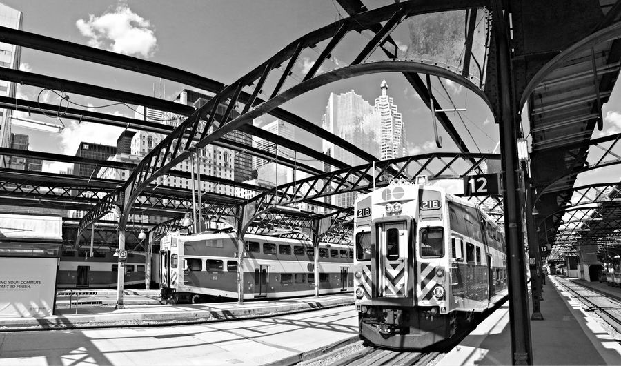 B&w Photography IPhoneography Panoramic Train Unionstation Cityscapes Shades Of Grey