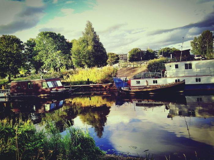 Fyris Evening Summer River Boat Swedish Color Of Life The Magic Mission