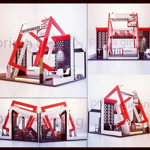 Telkomsel booth-indo 3D 3ddesign 3dvisual Exhibitionbooth indonesiandesigner rendering render vray sketchupvray sketchup furnituredesign furniture fancy artdesign artlover primadesain